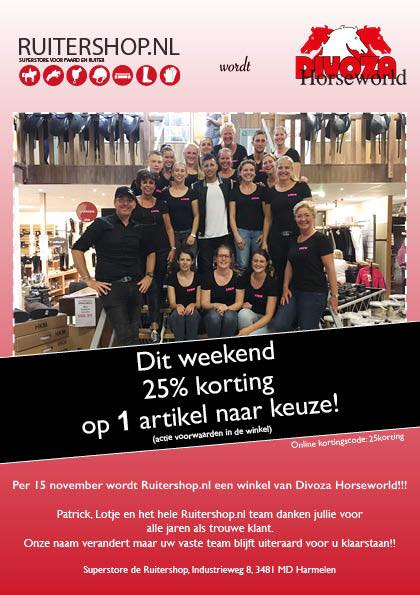 Breaking news, de Ruitershop wordt Divoza…..!!